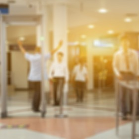 TSA, Security Checkpoint - Body and Luggage bag Scan Machine ,Secure in Airport Check In