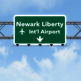 New Jersey USA Airport Highway Sign 3D Illustration